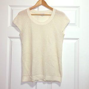 Gap Medium Cream Off White Short Sleeve Sweater
